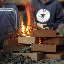 It's not a camp without a fire