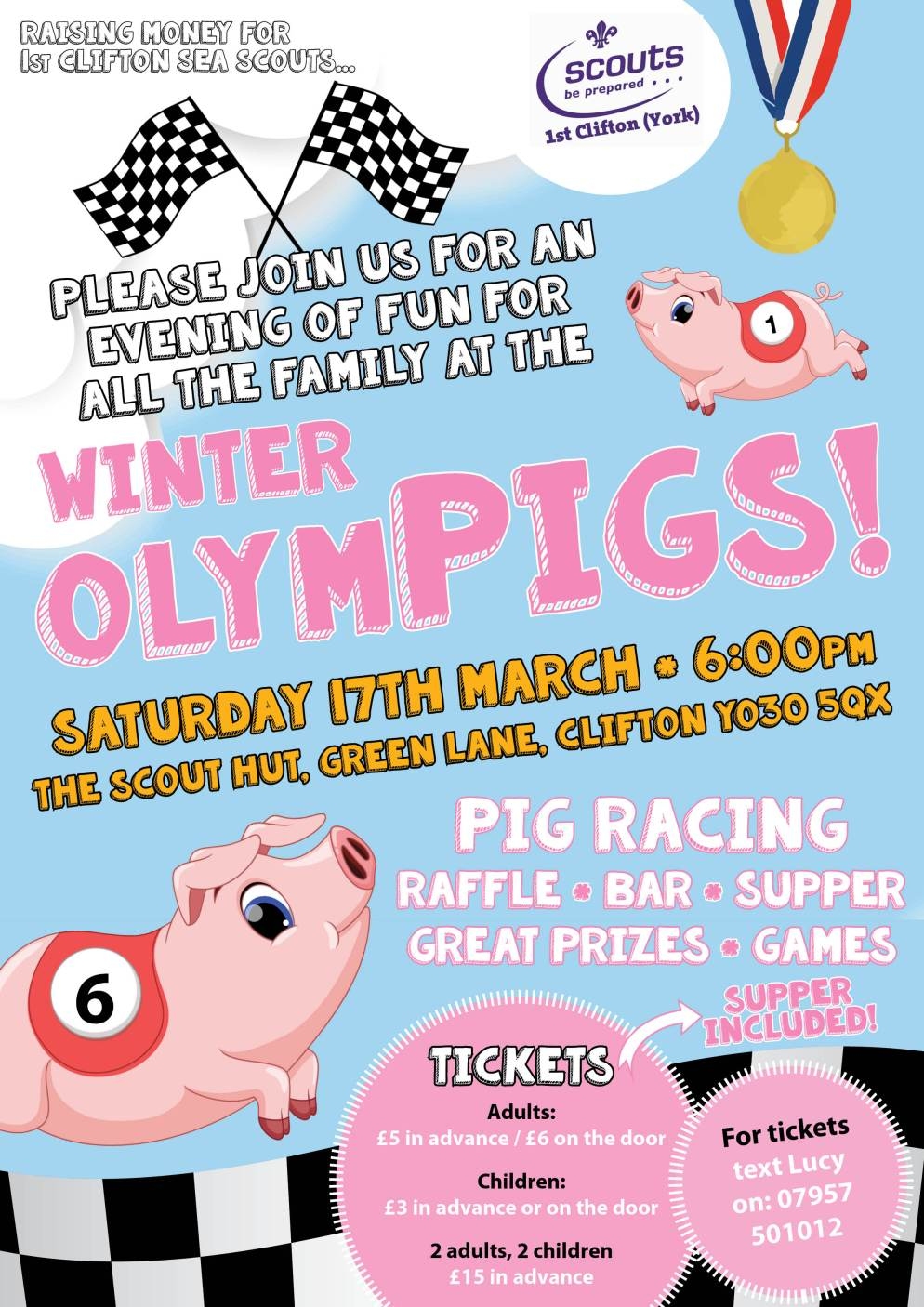 Pig Racing leaflet